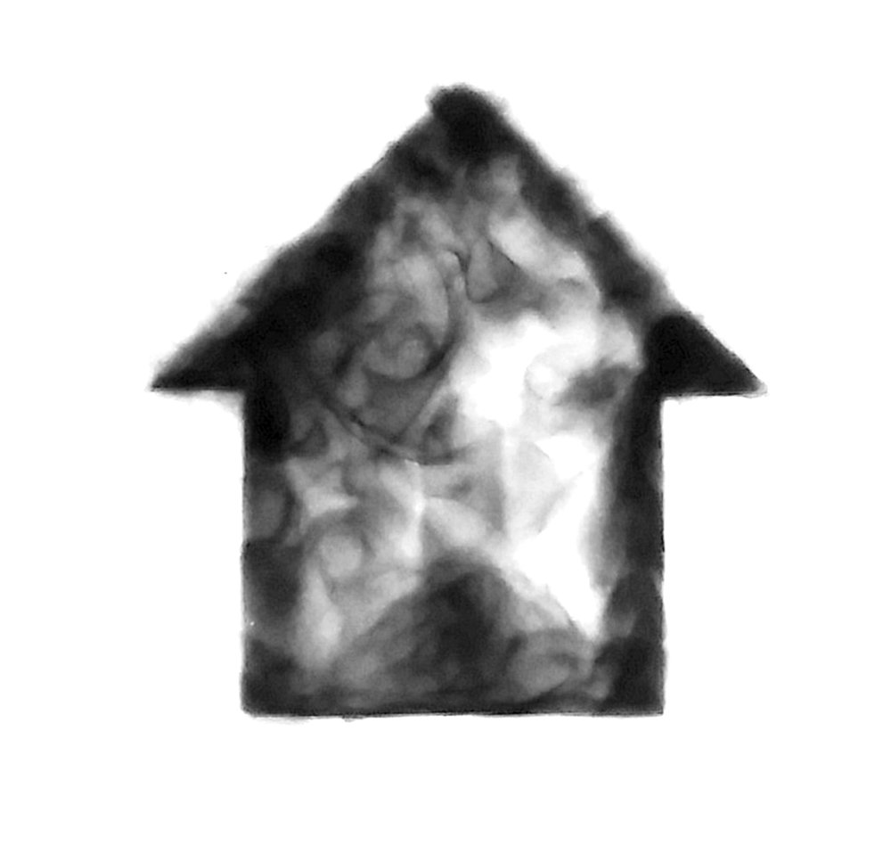 Smokehouse #8, Smoke on paper, 2018