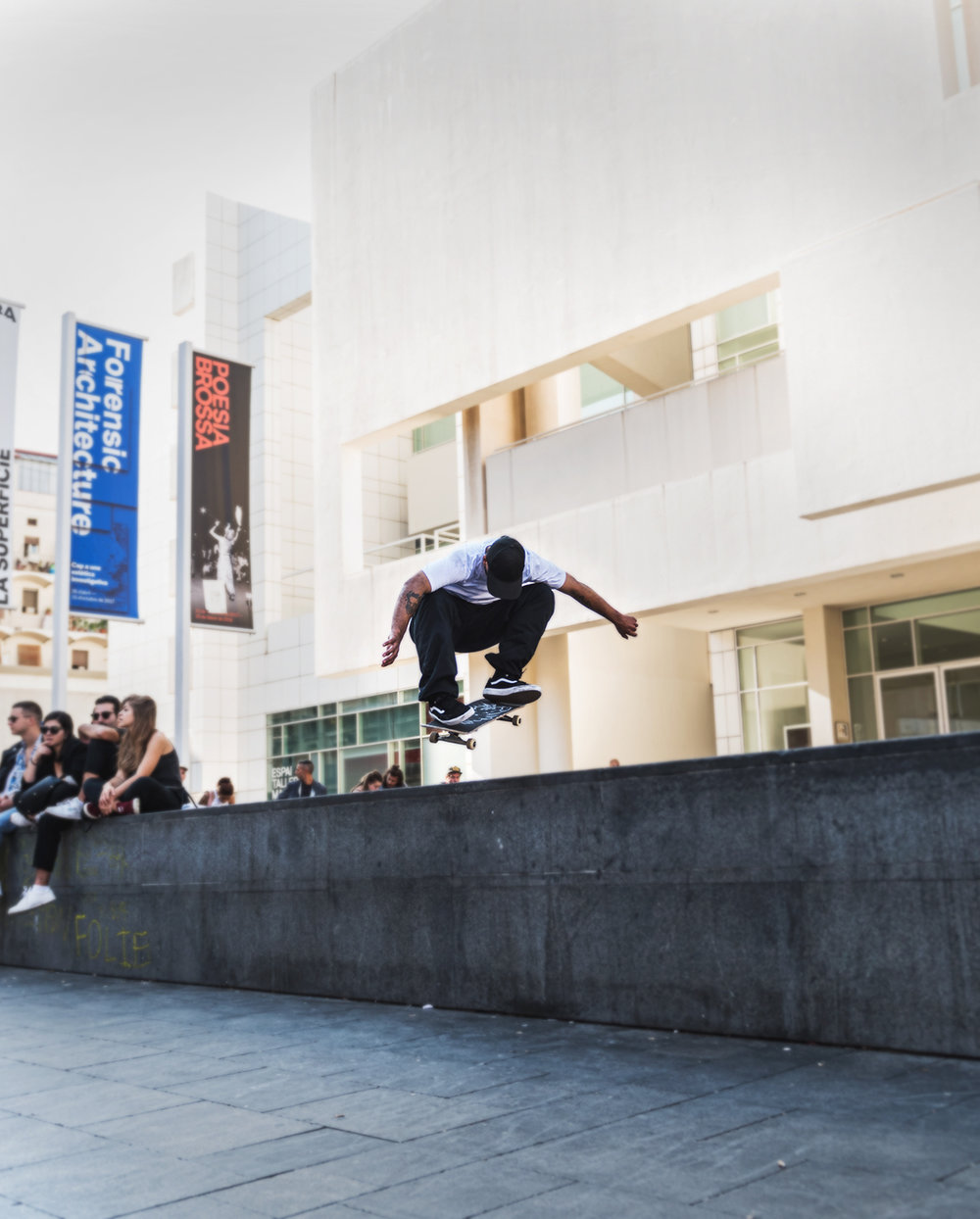 SKATERS @ THE MACBA BARCELONA
