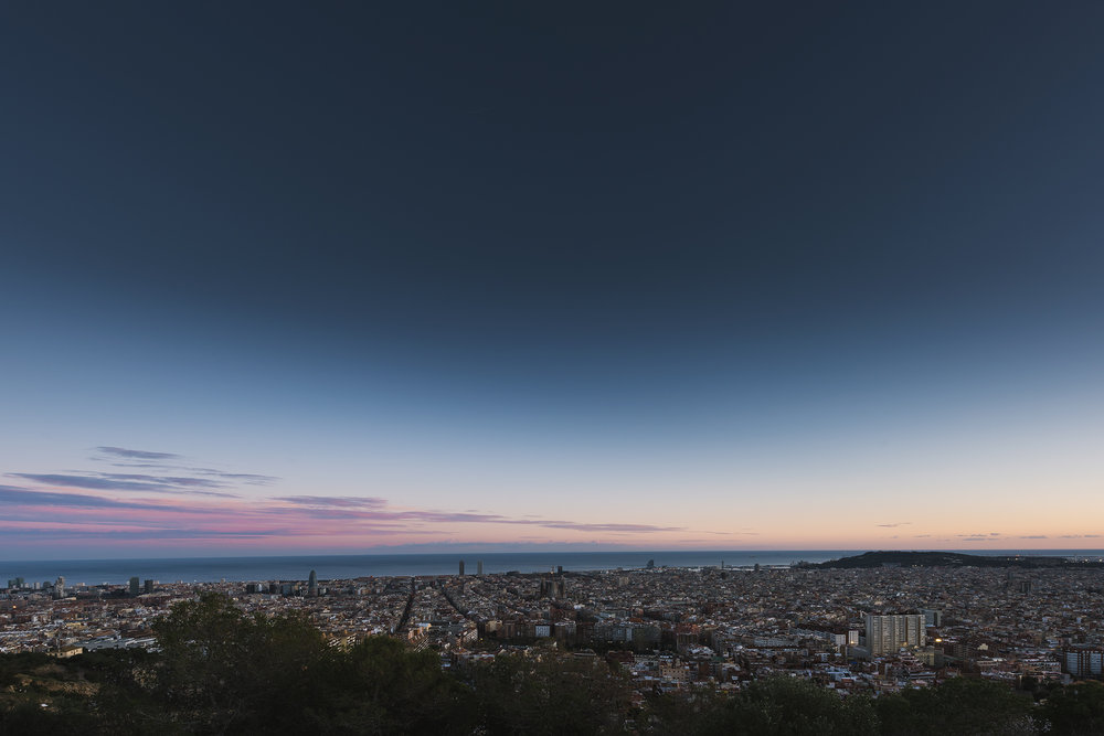 VIEW FROM BUNKERS DEL CARMEL, BARCELONA Still can't get enough of this view ❤️  even on a Saturday afternoon when it's full, there is still enough skyline for everyone!  #barcelona #spain#españa #mondaymotivation . BASIC SETTINGS CAMERA - Nikon D810 LENS - 14 - 24 mm f/2.8 FOCAL LENGTH - 14mm EXPOSURE - 1/6 sec f/11 ISO 64 TRIPOD & REMOTE SHUTTER The sun sets over to the right out of frame, behind Tibidabo but for me the sky out to sea usually shows the most beautiful colours. Saturday was kind of peaceful and only some colours shone through but what better way to spend a hungover Saturday afternoon!? FIND BUNKERS FOR YOURSELF IF YOUR EVER IN BARCELONA - http://bit.ly/2nEV0U7