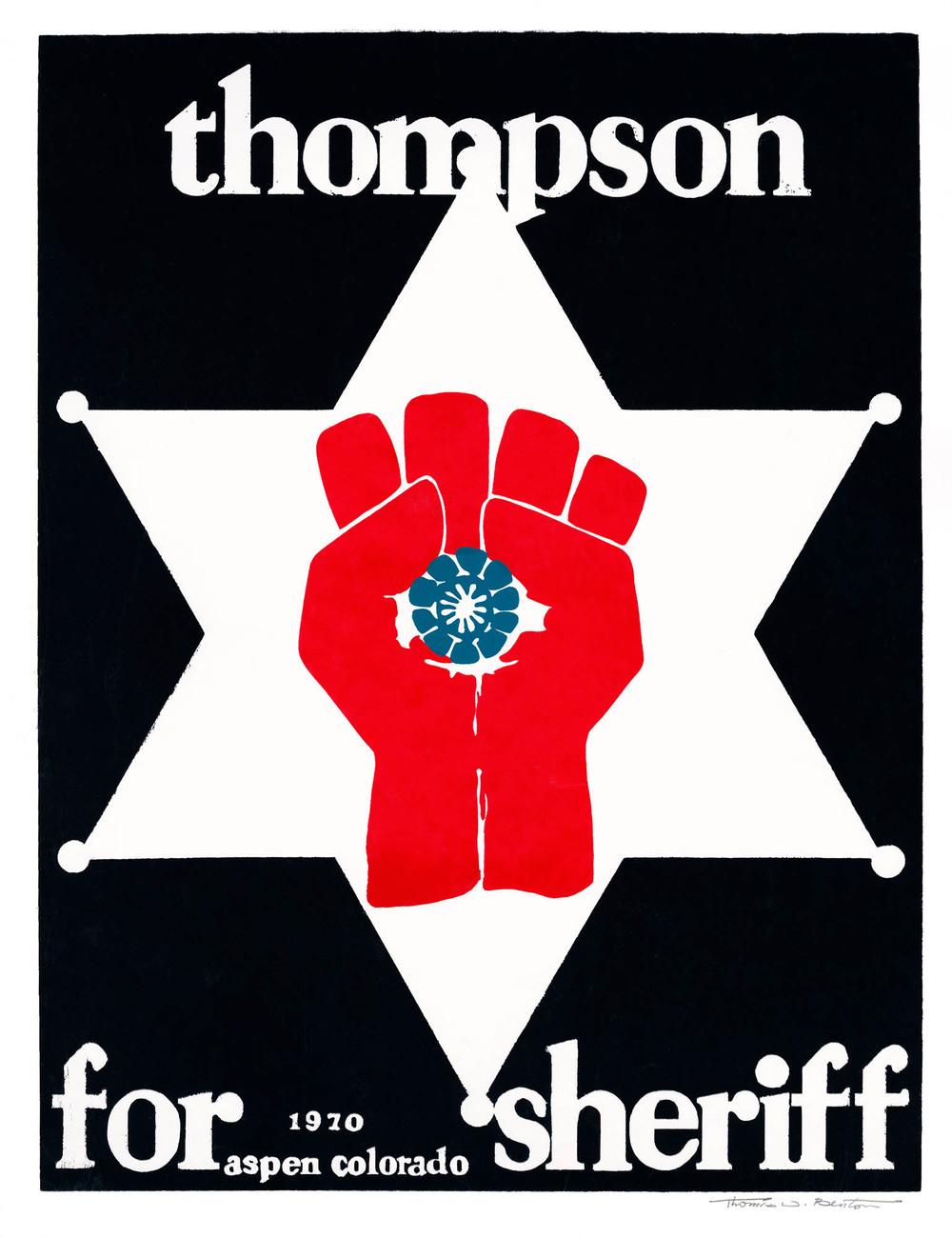 Thompson For Sheriff Vintage From 1970 Thomas W Benton