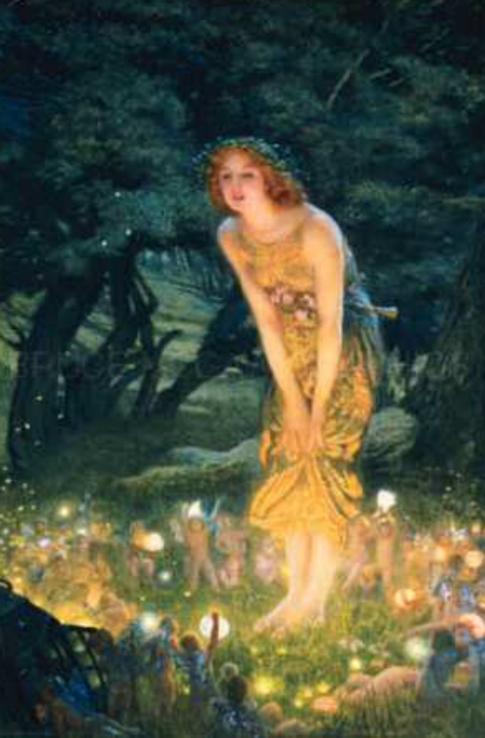Midsummer Night  by Edward Robert Hughes.