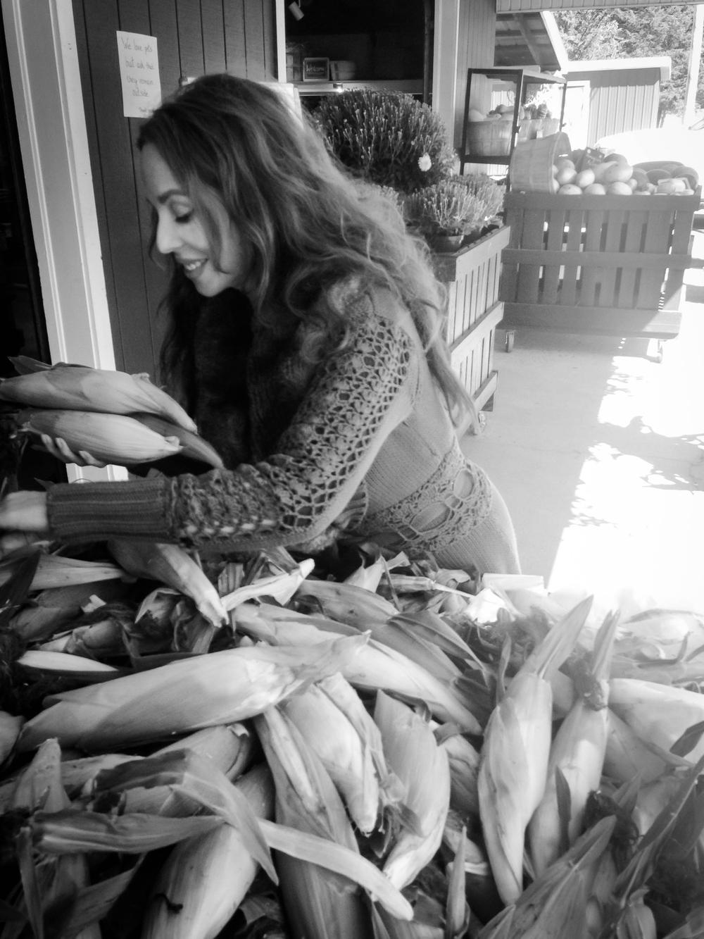 Organic sweet corn jackpot!