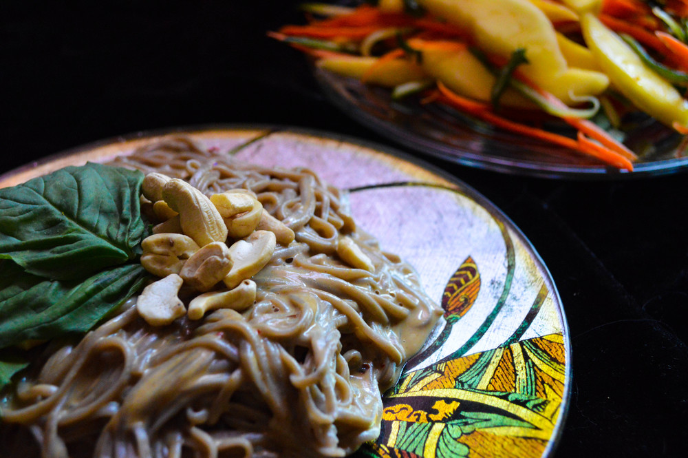 Sunshine Noodles With Spicy Mango Salad