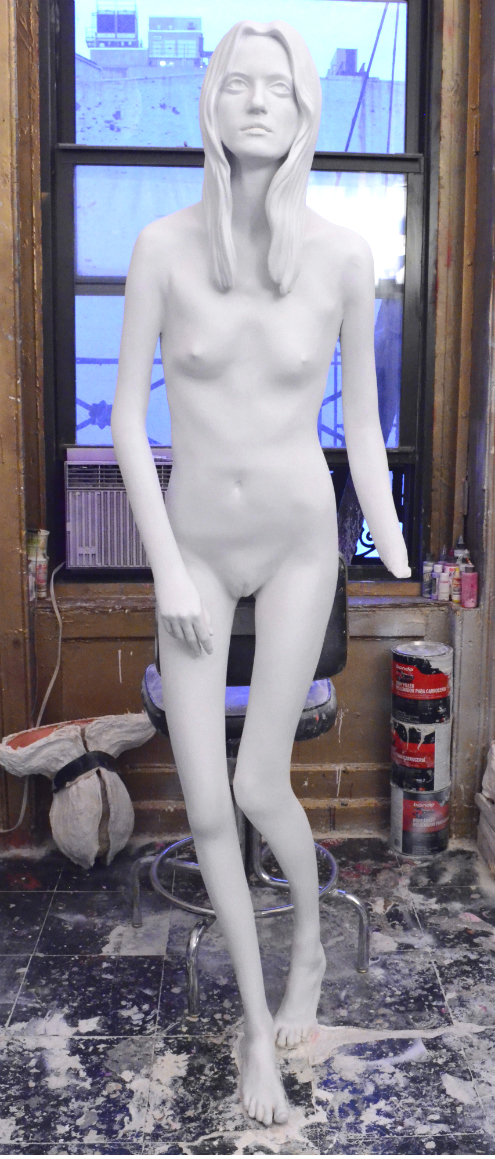 mitchell cooper kasia sculpture in progress