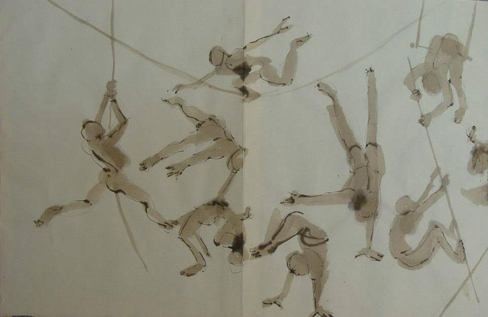 Sketchbook: Circus Acrobats