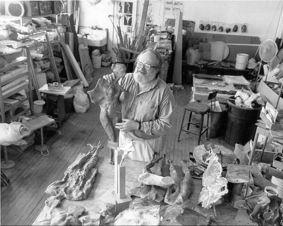 Tuska in his studio at UK.