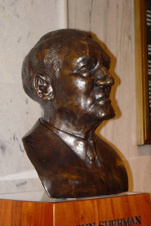 US Senator John Sherman Cooper Bust, 1987