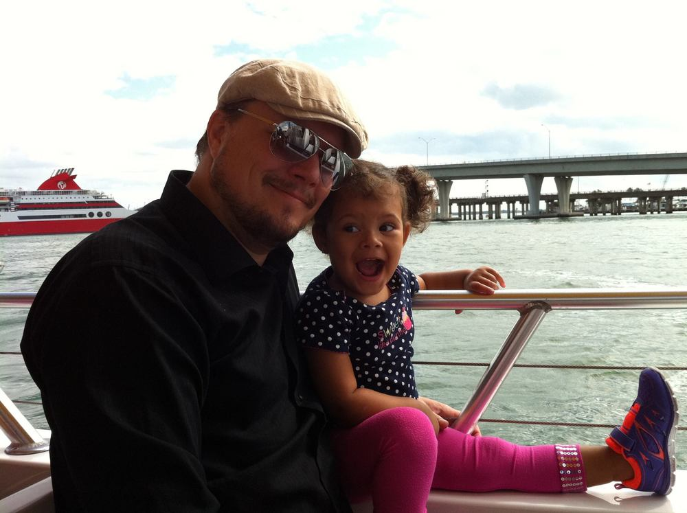 The author and his daughter, Miami Florida, 2015.