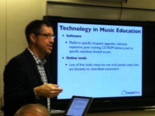 "Dr. James Frakel at the ""Teaching Music in the Cloud"" workshop on January 18, 2014"
