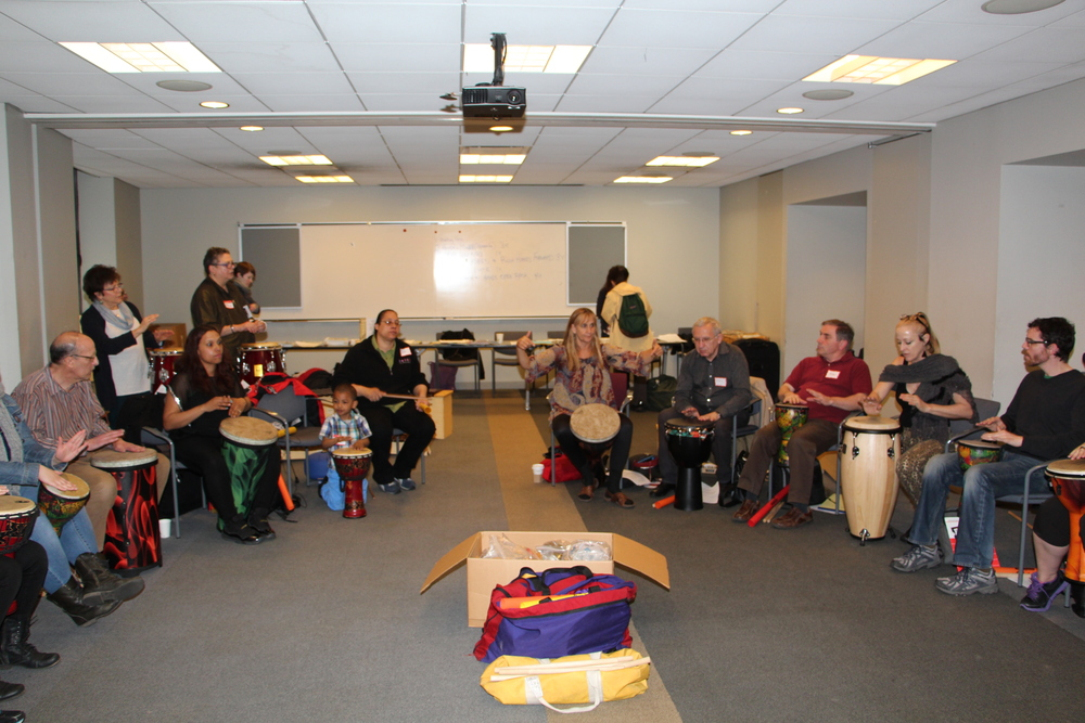 Innovative Drumming Circle Workshop presented by Mary Knysh April 26, 2014