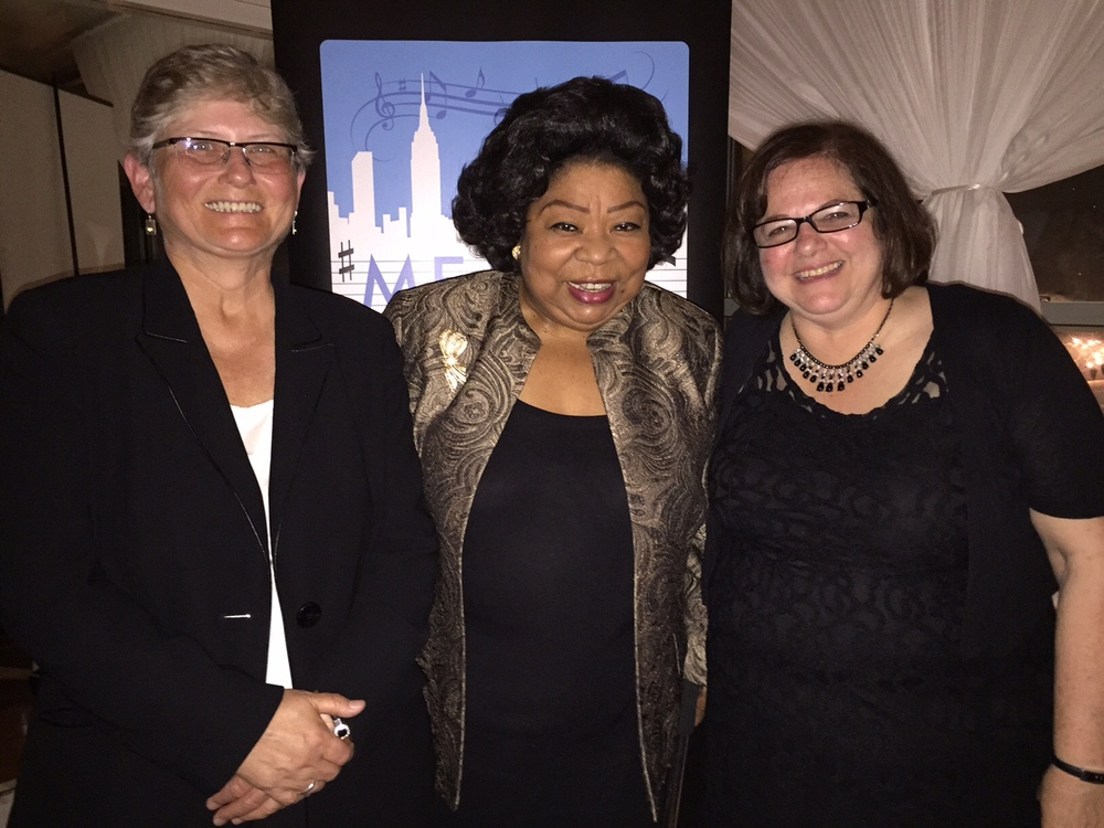2015 MEANYC Annual Honoree Dinner award winners Patricia Glunt, Martina Arroya and Dr. Penny Prince.
