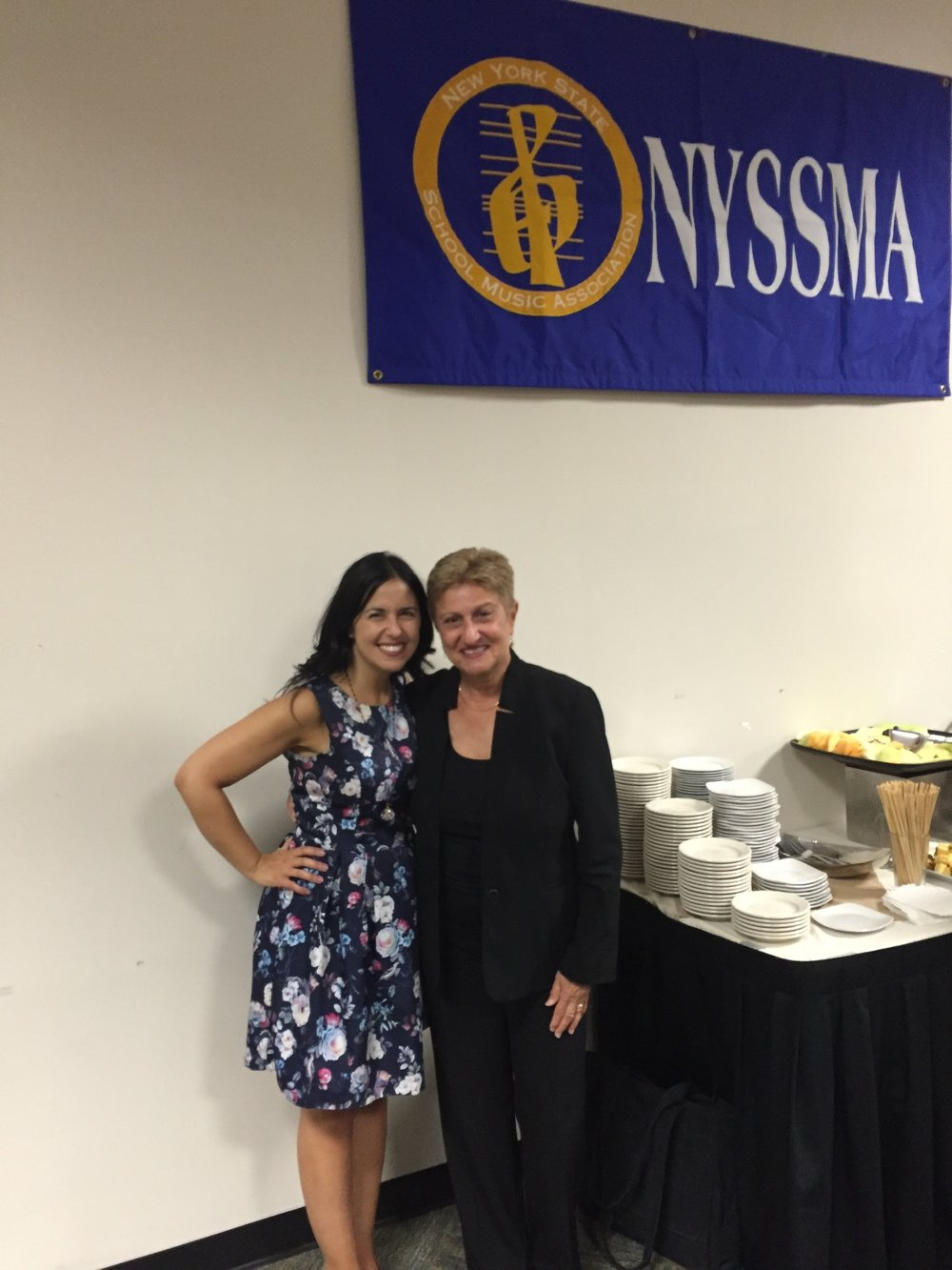 MEANYC Advisory Board Member, Dr. Susan Davis with President Barbara Novick at NYSSMA Summer Conference 2016.