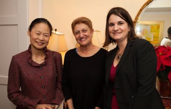 Founder of Midori and Friends and world renowned violinist Midori, MEANYC President Barbara Novick, and Midori & Friends Associate Director of Programs Lauren Noble at a private home Musicale raising funds for Midori & Friends music education programs in NYC public schools.  www.midoriandfriends.com   Photo Credit Lauren Silberman