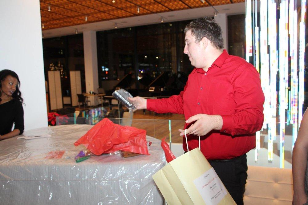 Congratulations, Logan Richmond--winner of our musical goodie bag raffle! Annual Autumn Event, Steinway Hall.