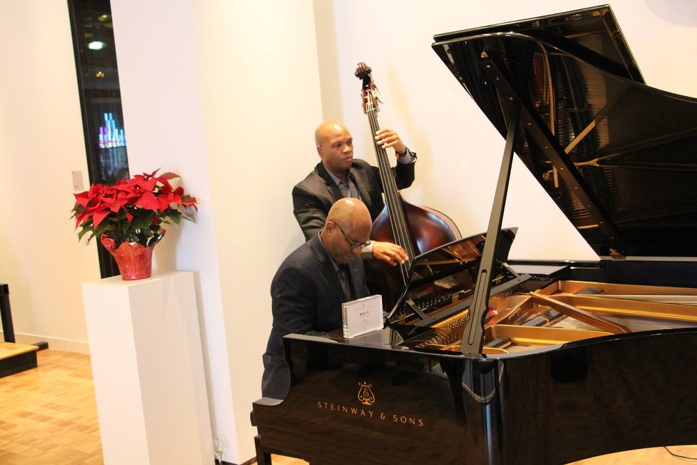 Thanks to MEANYC Advisory member Ron Thompson and bassist Mark Peterson--musicians extraordinaire! Annual Autumn Event 2016, Steinway Hall.