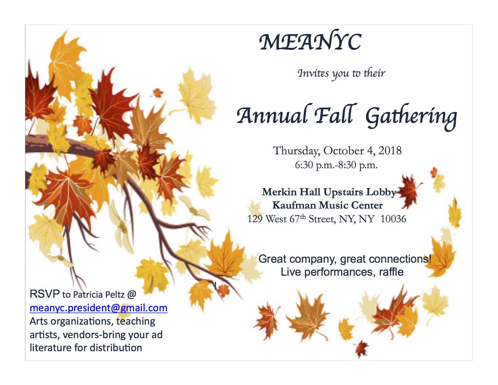 Events at a Glance — MEANYC
