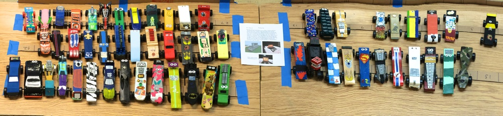 2015 Pinewood Derby Cars