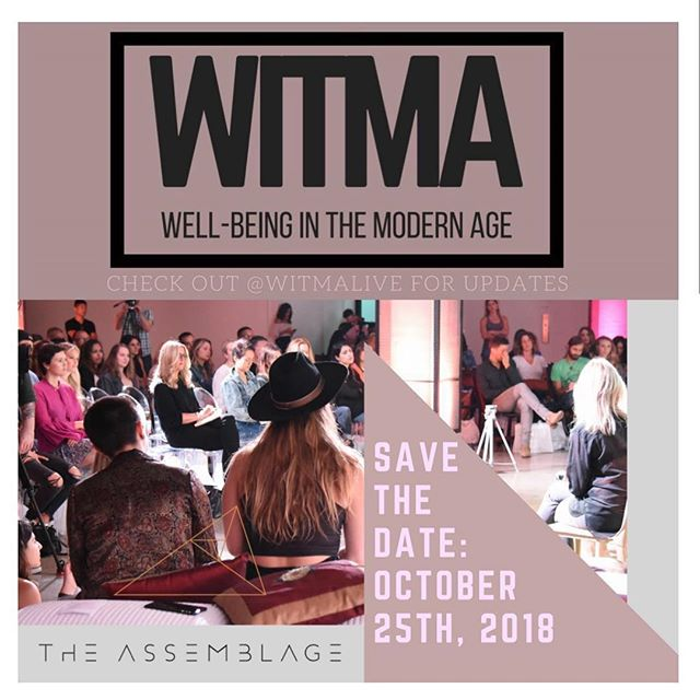SAVE THE DATE! We are so happy to announce that @witmalive is coming to #NYC on Thursday, October 25, 2018 ✨ Special thank you to @theassemblagenyc #Nomad location for hosting us! 🙌🏽 Follow @witmalive for all of our updates and announcements! See you soon! ❤️💫❤️