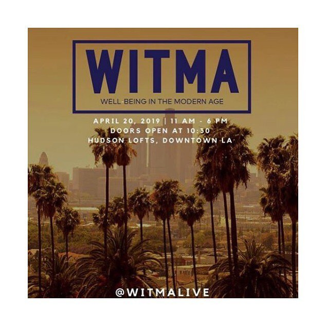 Leaving tomorrow for LA for the next round of @witmalive - coming up on Saturday, April 20th. Join us for a day of community, conversation and connection on Saturday, April 20th in Downtown LA at Hudson Loft!  With panel discussions featuring @richroll @third_eye_drops @colincirca @whitnlove @michaelbbeckwith @iamrotana @buckangel @raminnazer @lizzyjeff @thesarahshow @allyhilfiger and more!  Win a trip to @rythmia_ valued over $6k, and other mindful, inspiring prizes from our sponsors.  Purchase and secure your tickets: witmalive.com ⭐️⭐️⭐️