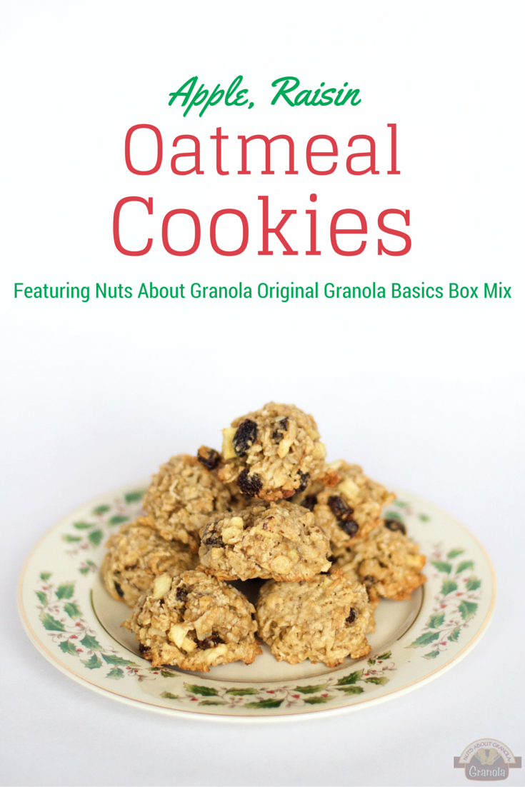 Apple, Raisin, Oatmeal cookies from nutsaboutgranola.com