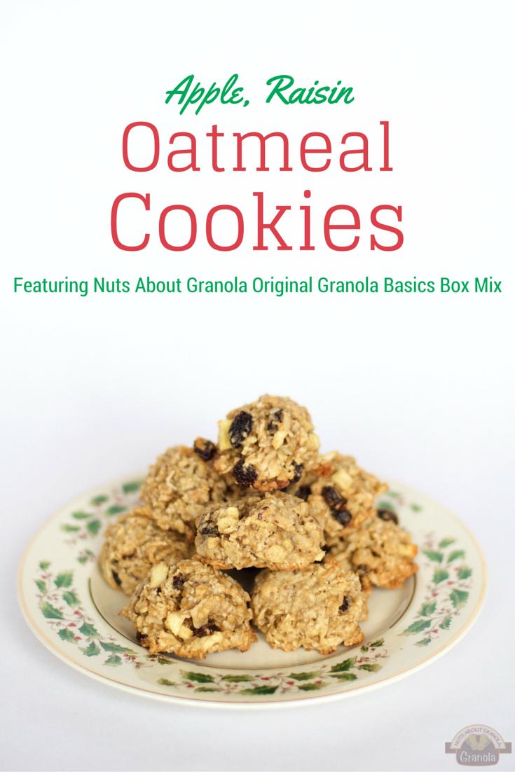 Apple, Raisin, Oatmeal cookies from nutsaboutgranola.com