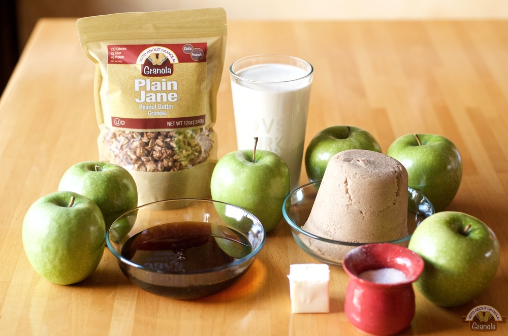 Homemade Caramel Apples Featuring Plain Jane Granola