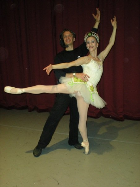 With my wife Brittany backstage at American Repertory Ballet's Nutcracker.
