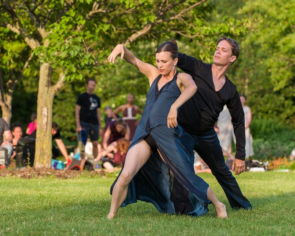 My wife and I performing at Dances on the Lake in Minneapolis on July 11, 2015.