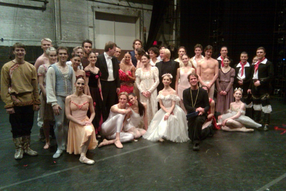After the 2010 Youth America Grand Prix Gala Performance, surrounded by some of the best dancers in the world.