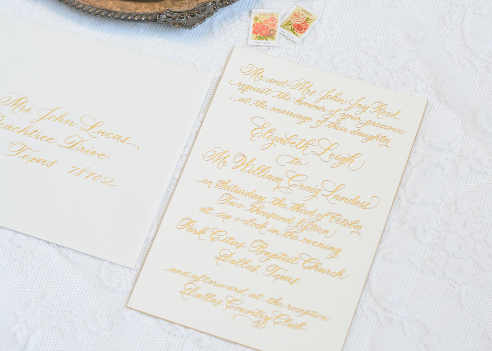 New Jersey Wedding Invitation Calligraphy | Calligraphy by Mary Ellen