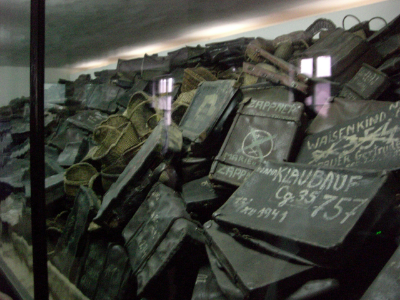 Suitcases at Auschwitz