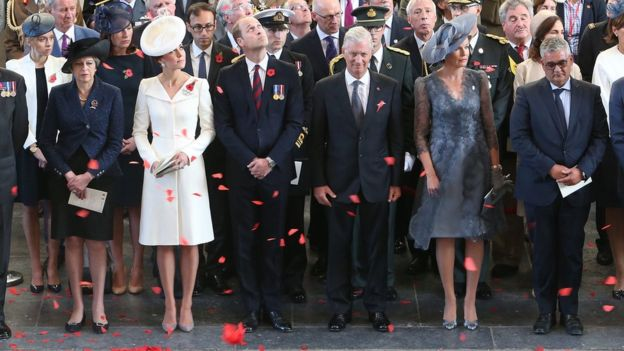 Royals take part in the commemorations