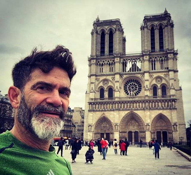 Can't believe I was enjoying this spectacular edifice during a morning Paris run, only a month ago. #notredame #triste #grand #tristesse #france #paris