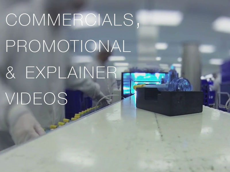 Commercial, Promotional videos, explainer videos