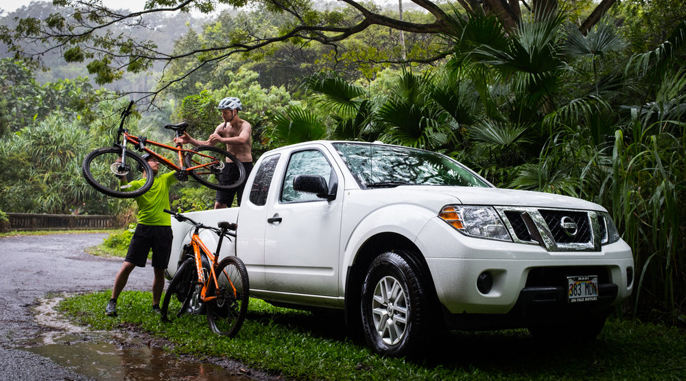 Cruising Maui Rent A Car Truck Mountain Bikes
