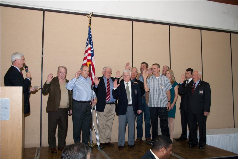 2014 HDSA Board Members Taking the Oath of Office from Sheriff Bill Gore