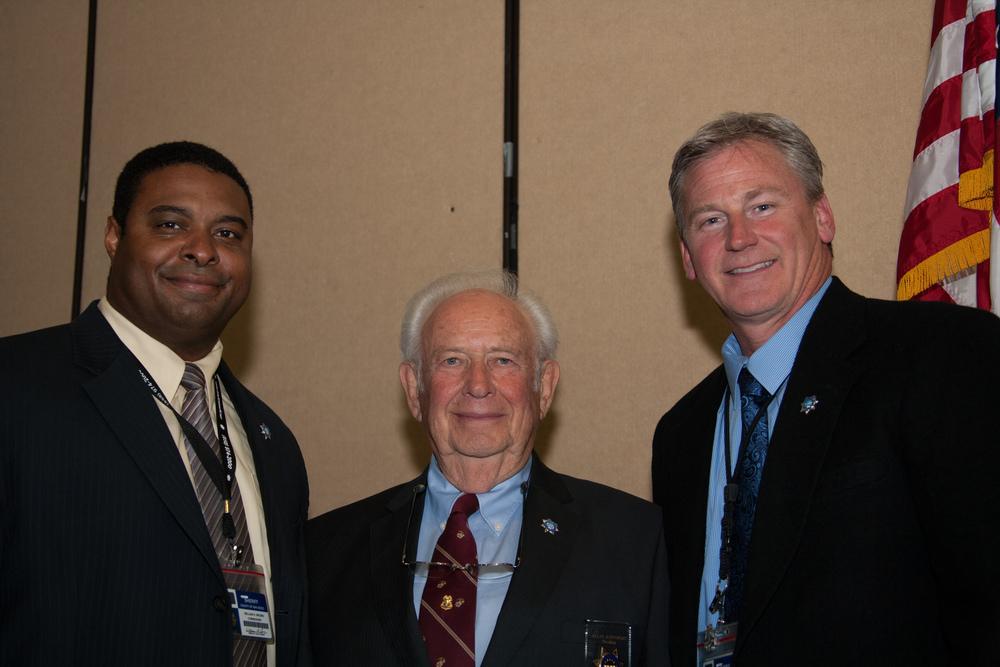 Sheriff Commander Brown, 2014 HDSA President Alan Rappoport, Assistant Sheriff Mark Elvin