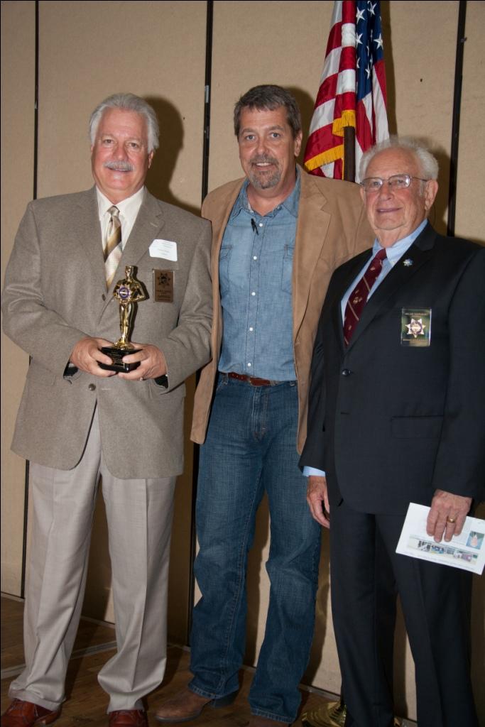 Honoring Dan McCarte ( Left ) Jeff Basford and HDSA President Allan Rappoport ( Left to Right )