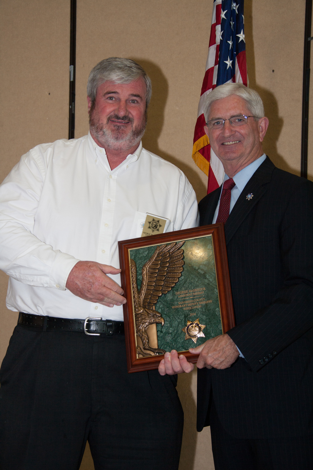 George McGregor Upgrades to the esteemed position of HDSA Assistant Sheriff as presented by Sheriff Bill Gore