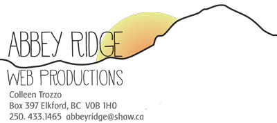 Abbey Ridge Web Productions - Colleen Trozzo Elkford, BC