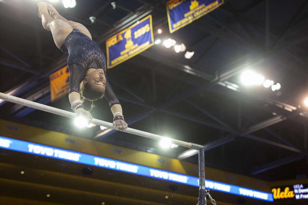 """UCLA Gymnastics Rekindles Joy, The Washington Post - """"You can train champions to the highest level without demeaning them, disrespecting them and taking away their joy. You absolutely can,"""" Coach Valorie Kondos Field said. Alongside writer Liz Clarke I told the story of the UCLA Gymnastics team and the supportive, joyful atmosphere that Coach Val has fostered in a sport that is still reeling from the sexual abuse crimes by USA gymnastics doctor Larry Nassar."""