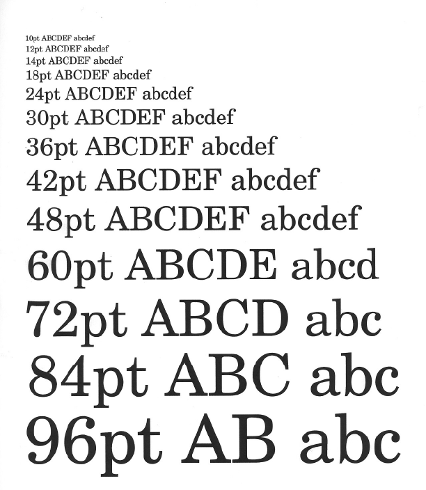 Font Sizing