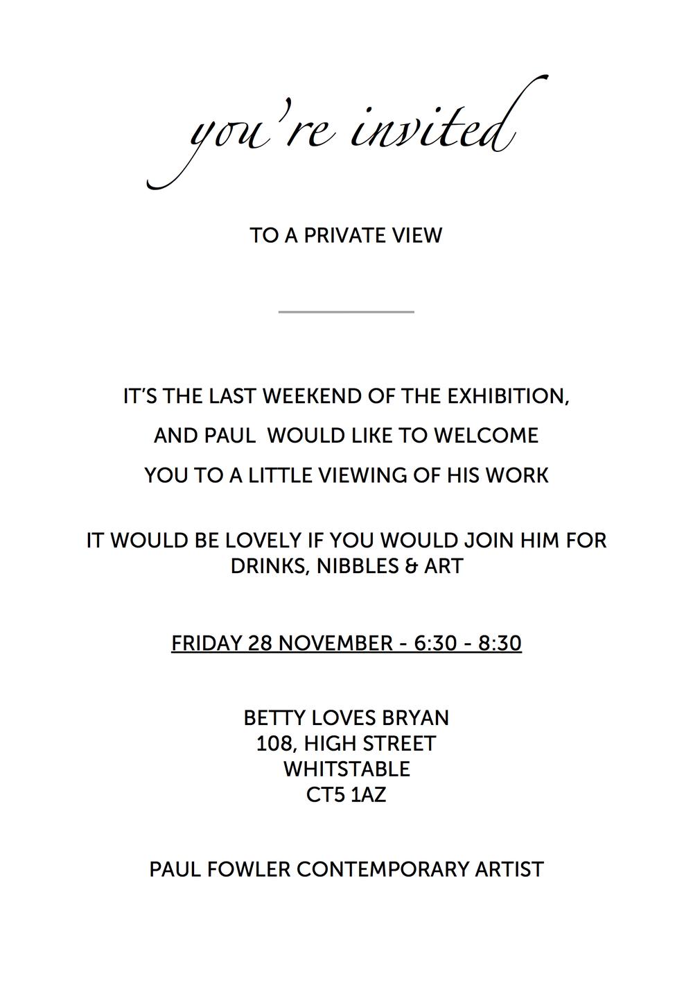 Private View Invite