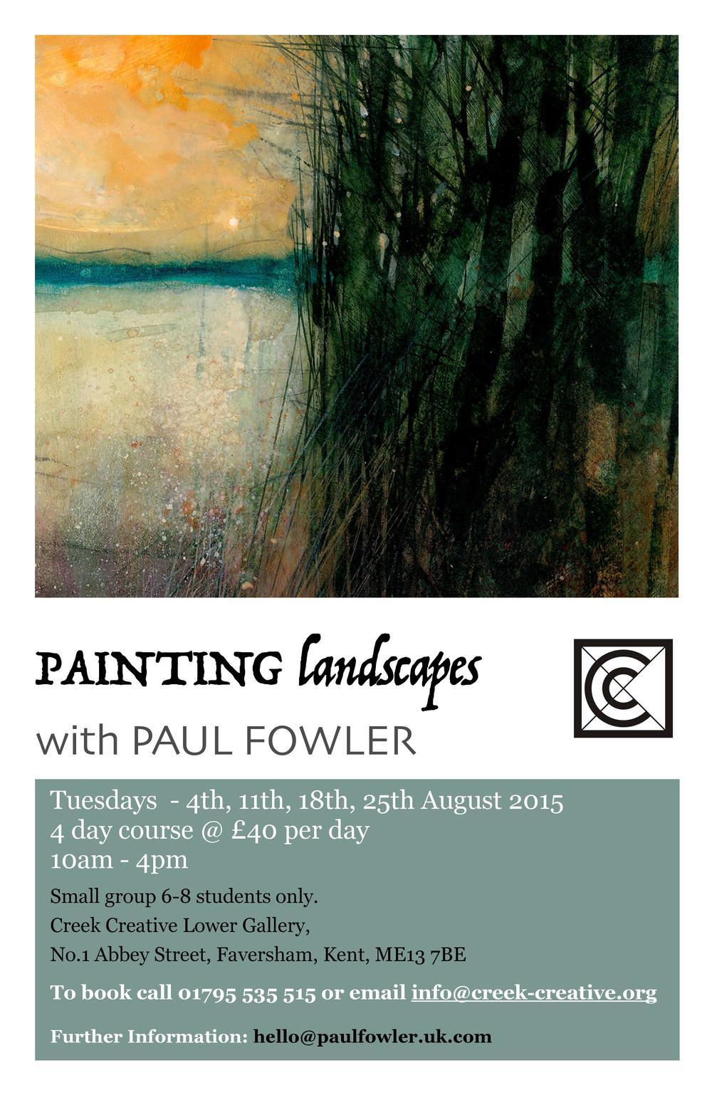 Landscape Painting Classes with Paul Fowler