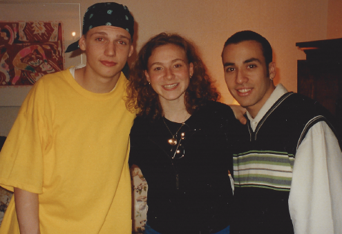 Me with Nick Carter & Howie D from Backstreet Boys. - March 1997, Montreal, Canada.
