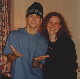 Yep. That's me with Brian from Backstreet Boys.-   March 1997, Montreal, Canada.