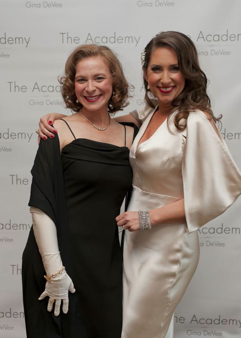 All dolled up with my mentor & coach, Gina, at The Old Hollywood Glamour Soiree to kick off the 1st Live Academy Event at The Ritz Carlton in Marina Del Rey, Los Angeles, California , March 2014.
