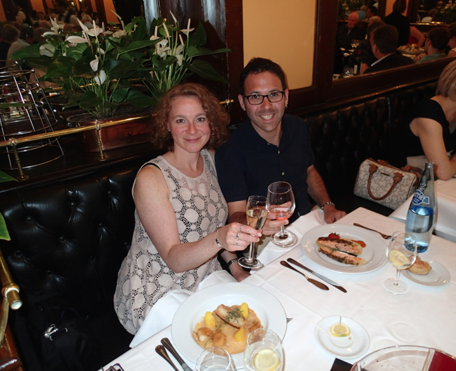 18th Wedding Anniversary Dinner with my beloved at La Brasserie Bofinger on Rue de la Bastille in in Paris, France.  June 2014.