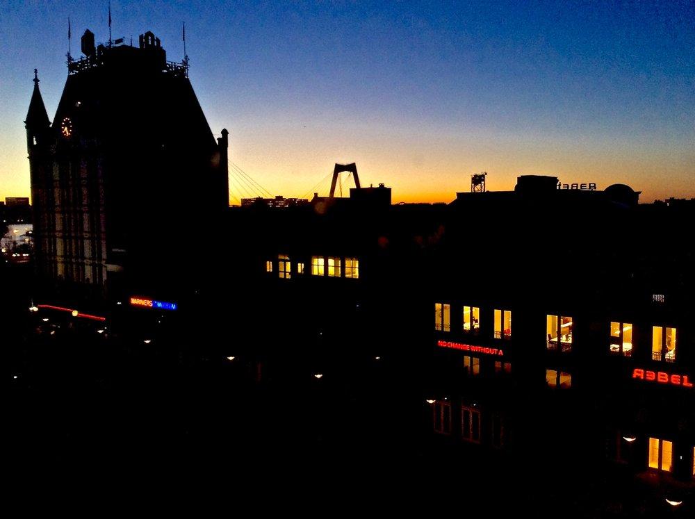Sunrise over Rotterdam.