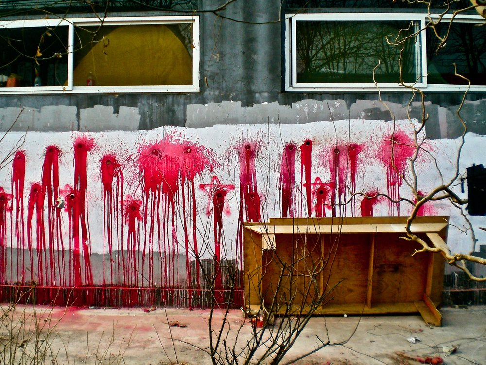 Artist's protest in Beijing, China. (C) Remko Tanis